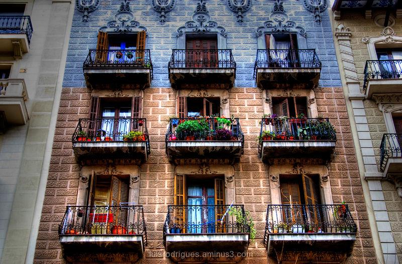 Barcelona Spain Espana Street Windows