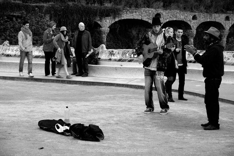 Barcelona Artist Street Park Guell