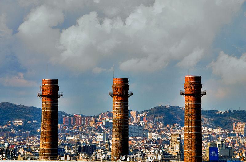 Barcelona Smoke Clouds