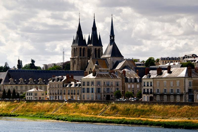 Loire River Blois France Saint Nicolas Church