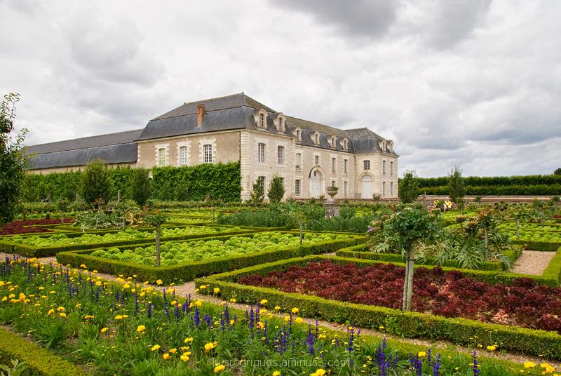 loire france chateau de villandry Gardens