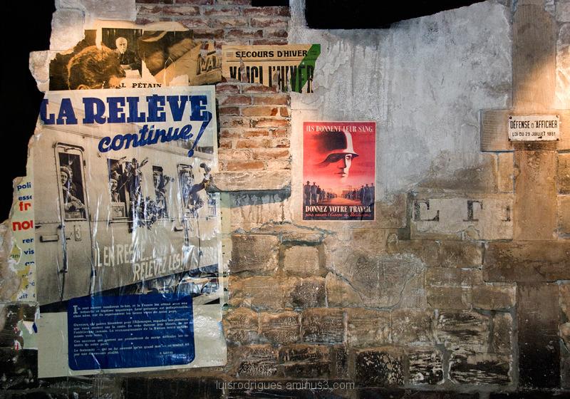 Wall from the World War II Caen Memorial