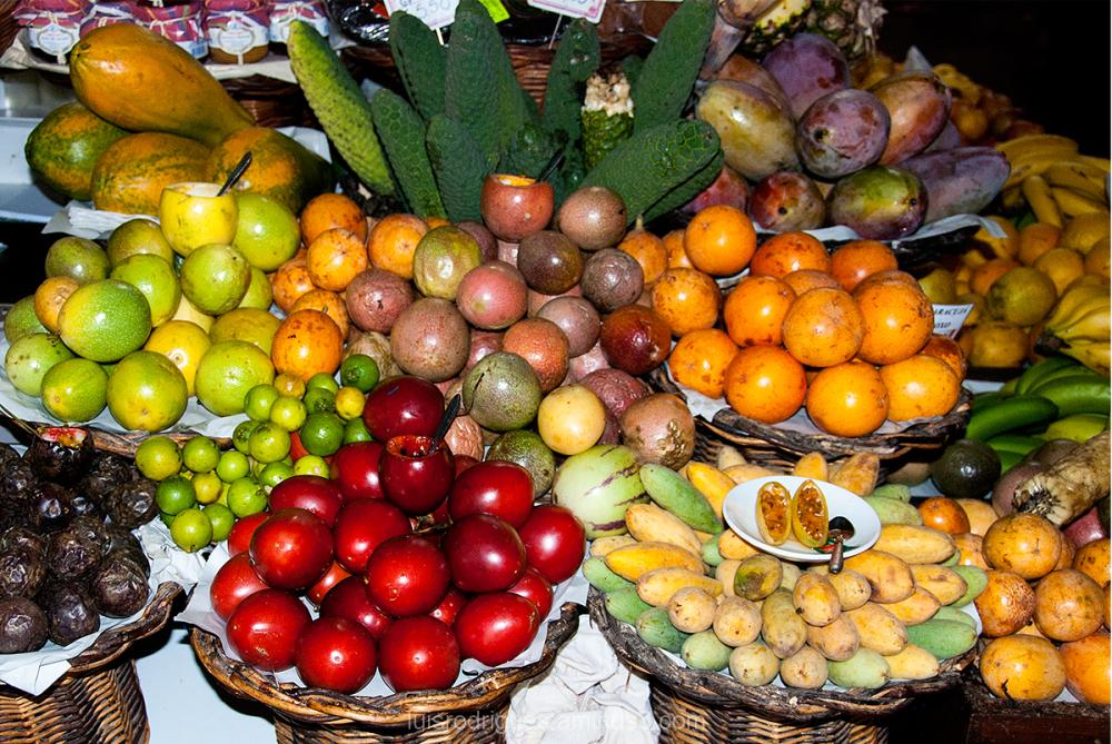 Madeira Island Portugal Funchal Mercado Lavradores