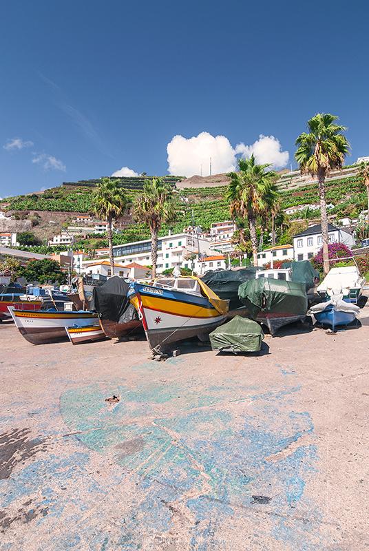 Camara de Lobos Madeira Island Portugal Boat
