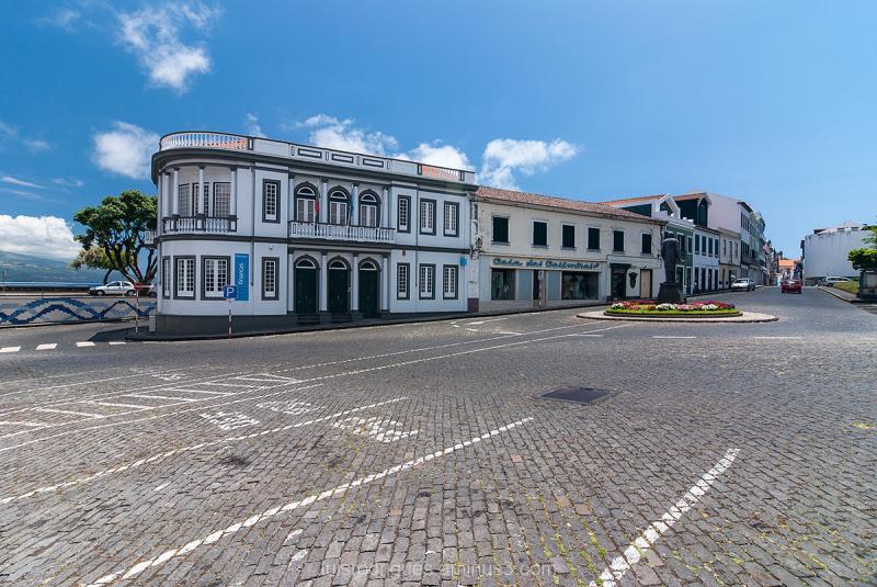 Horta Faial Street Azores Açores Portugal