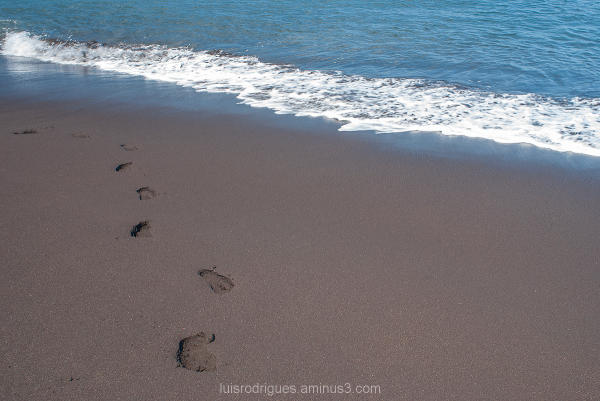 Footprints Black Sand