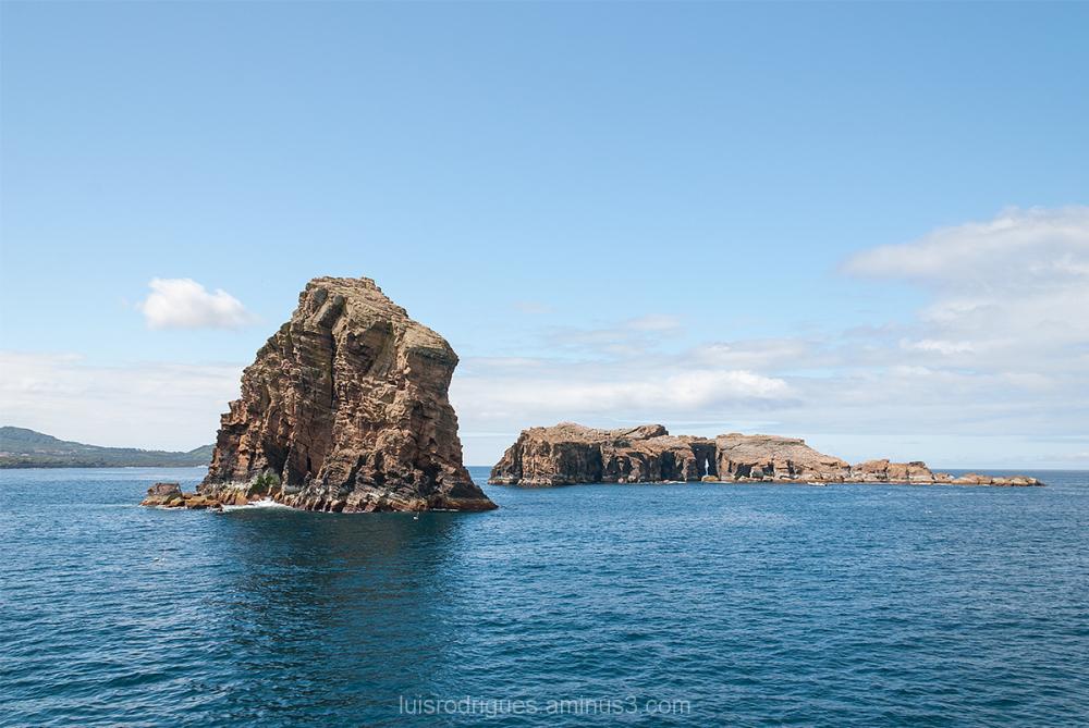 Rock Ocean Faial Azores Portugal