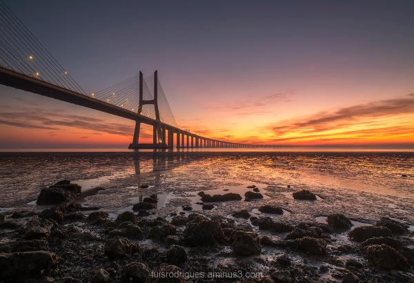 Lisbon Vasco da Gama Portugal Sunrise