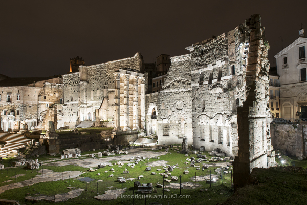 Trajan Forum at Night Rome