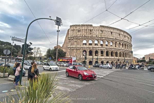 Rome Coliseum Streets