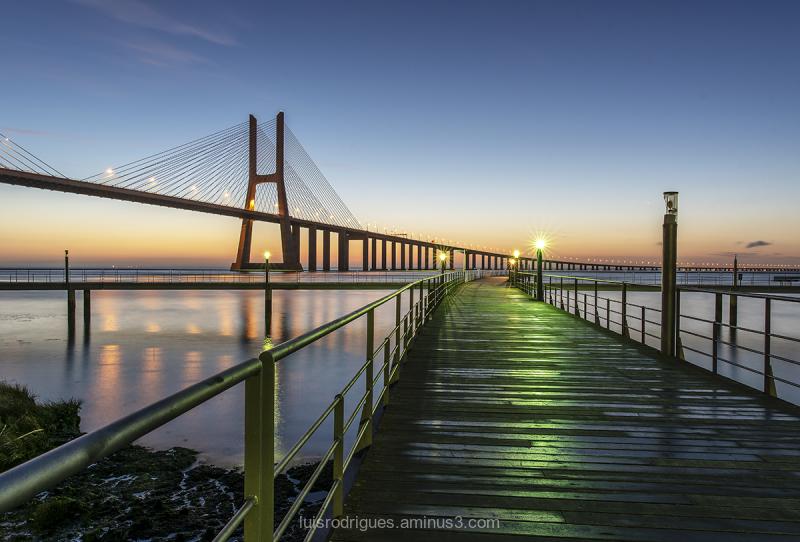 Lisbon Portugal Vasco da Gama Bridge