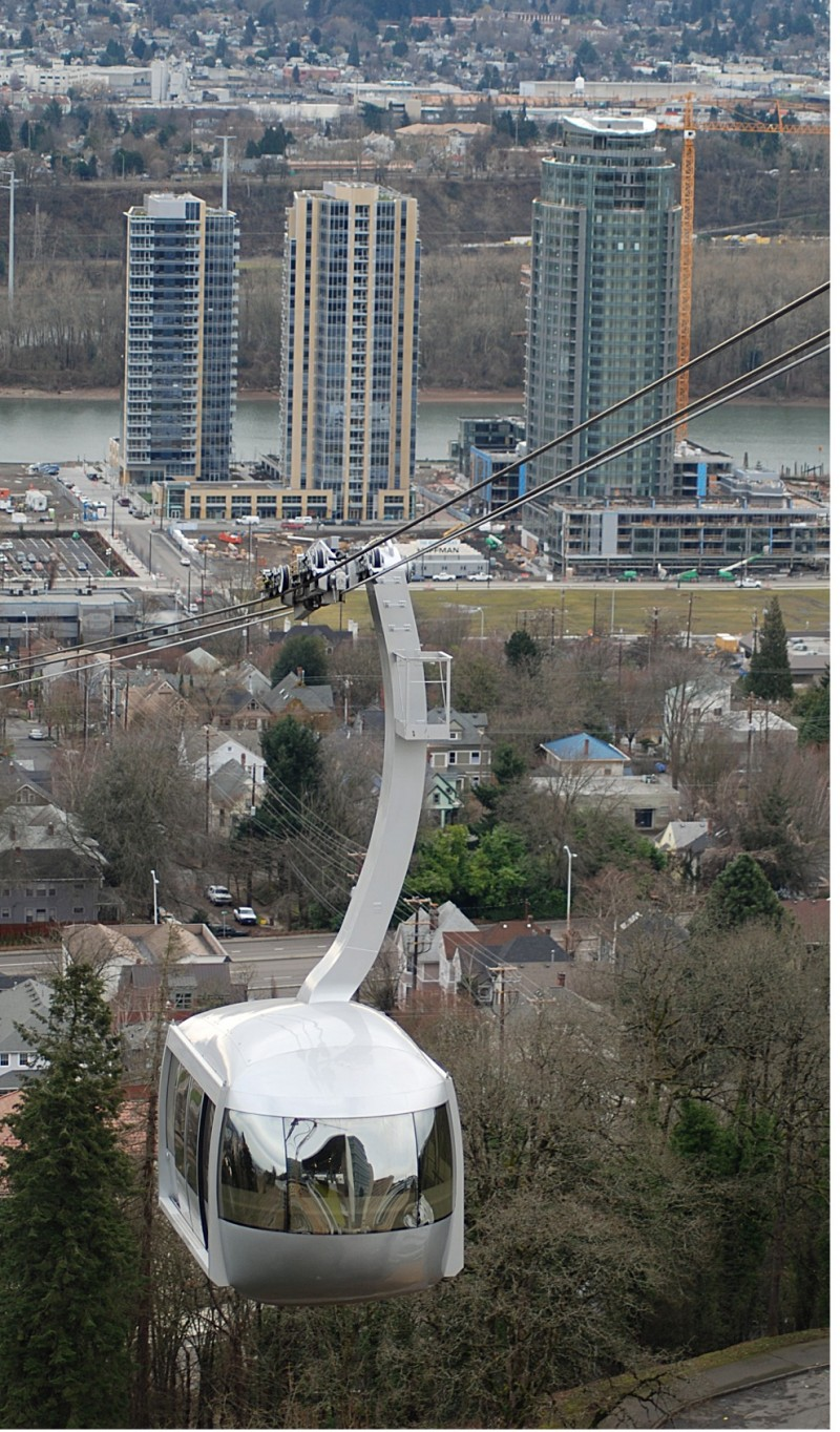 Aerial Tram With New Construction in Background
