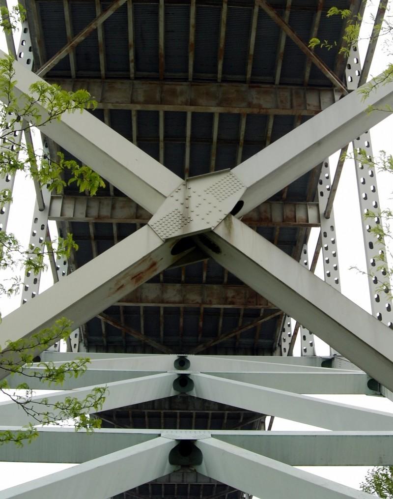 Portland downtown river Fremont Bridge