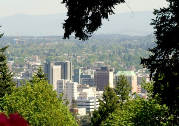 Portland Oregon Washington Park Downtown