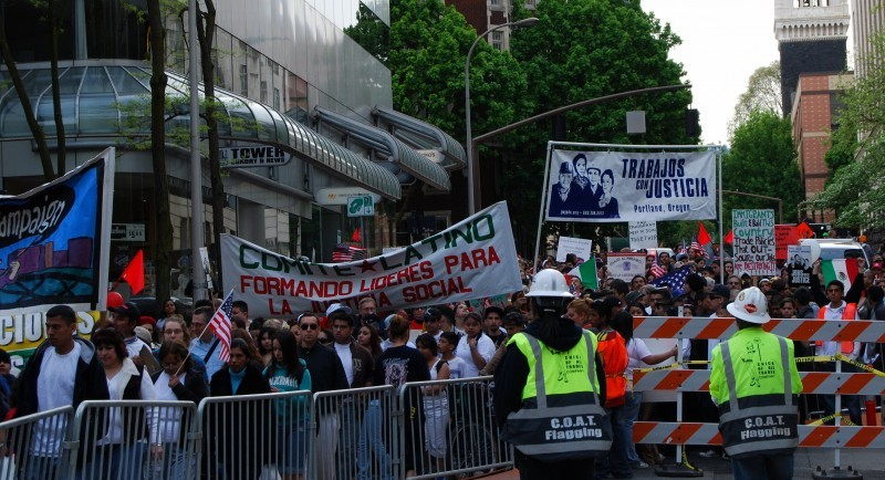May Day March Demonstration