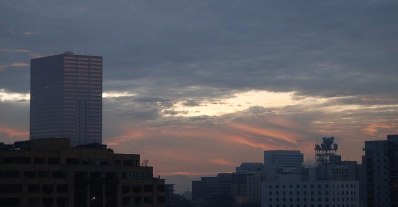 Portland Sunrise Building downtown