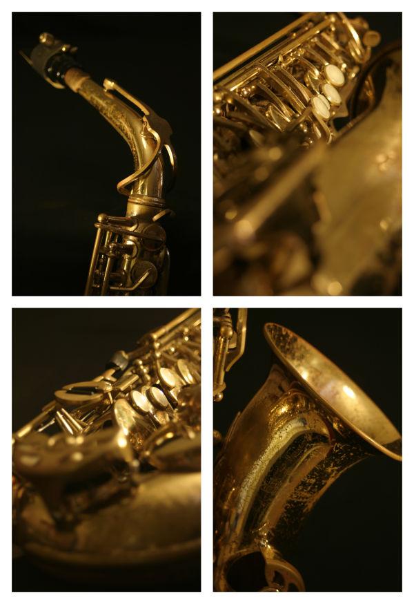 deconstructed saxophone montage