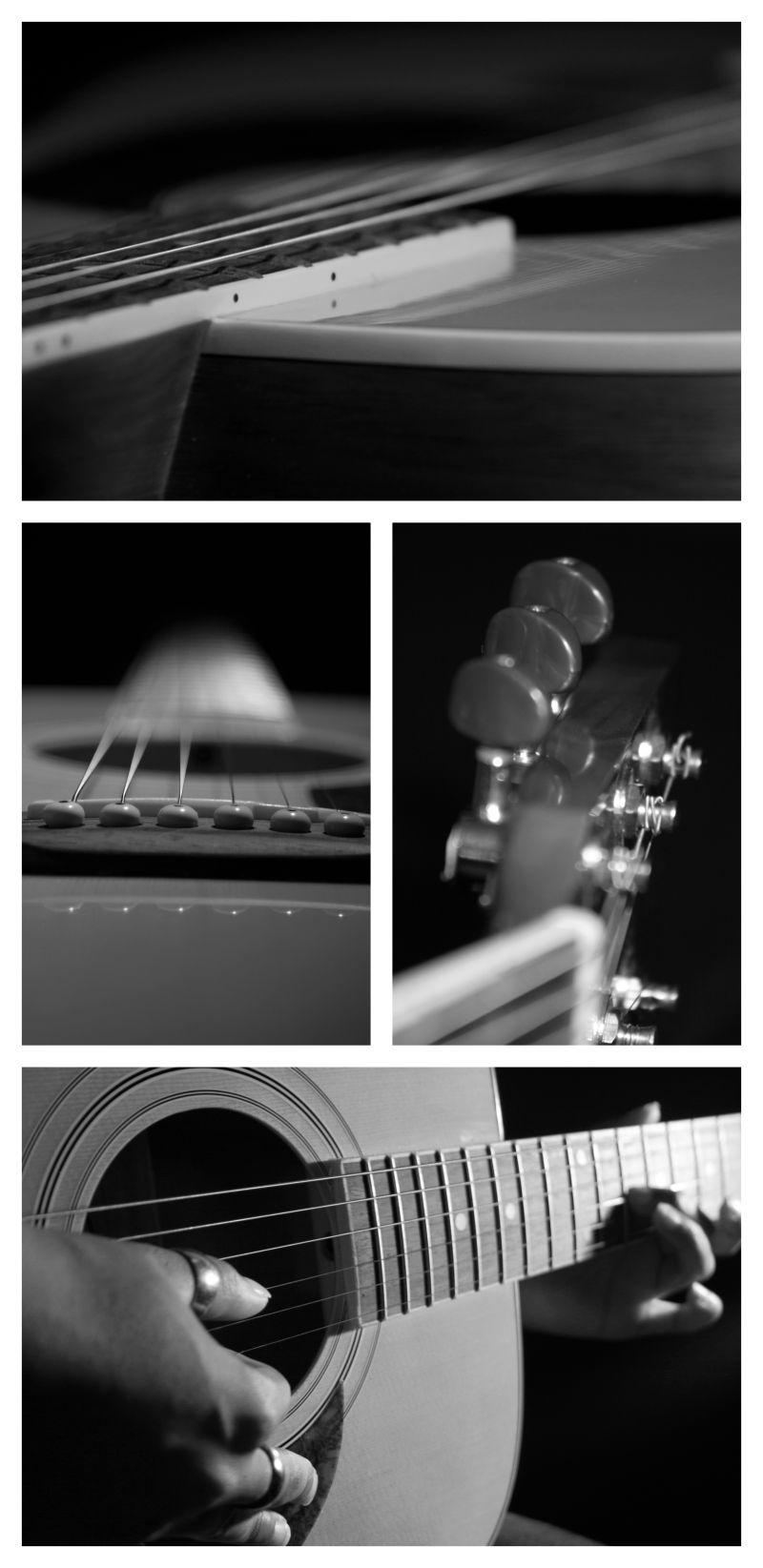 Acoustic guitar montage