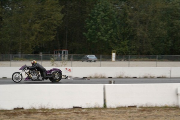 Motorcyle Drag Racing at Mission Raceway Park