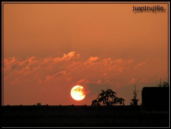 Sunset from my window...
