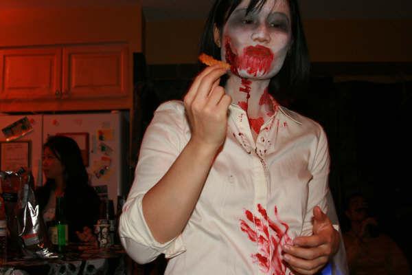 Zombie Christine loves nachos