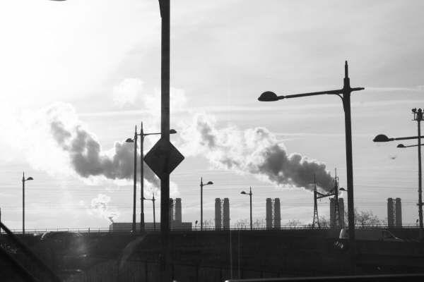 Factory smoke.