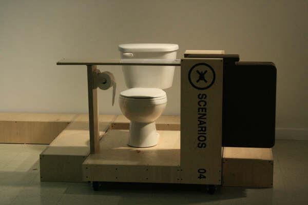 Toilet art.