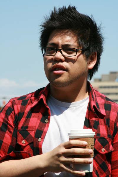 Mark enjoying his coffee