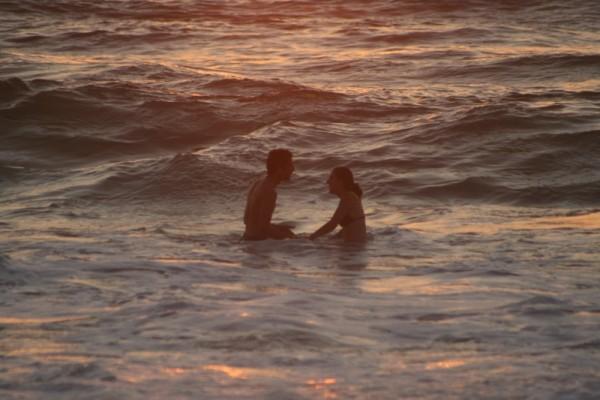 A Bath at Sunset