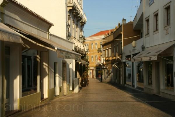 A street at dawn