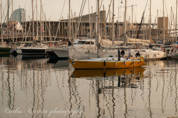 The Barcelona harbour