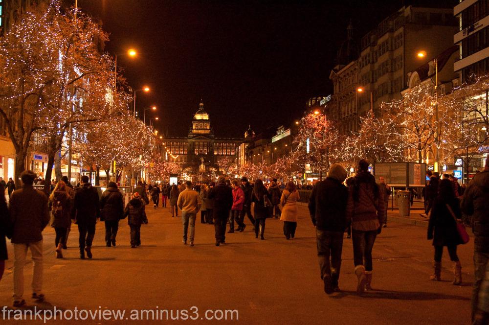 Christmas in Prague, venceslau avenue