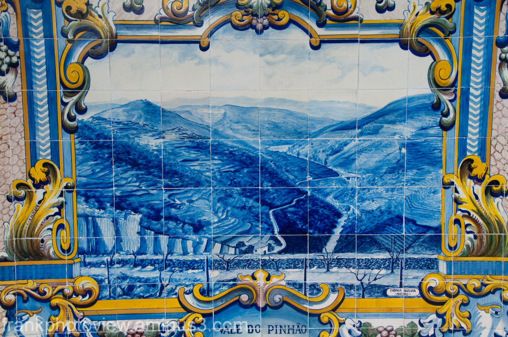 a tile from the station wall