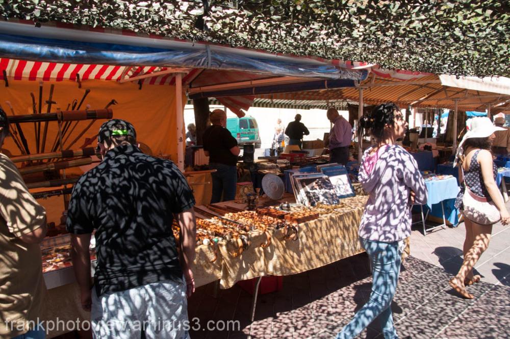 a  street fair in Nice