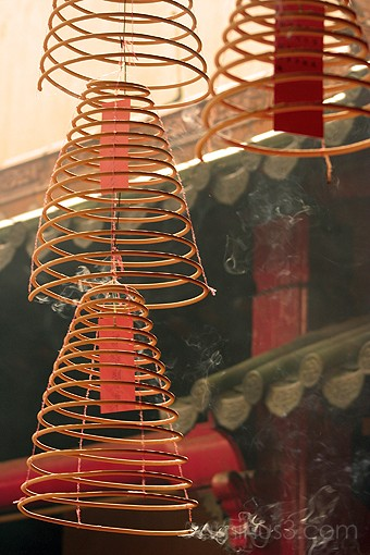 Burning wicks or chinese hanging josssticks