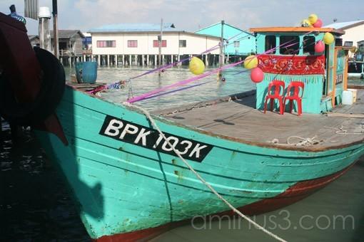 Boat in Pulau Ketam