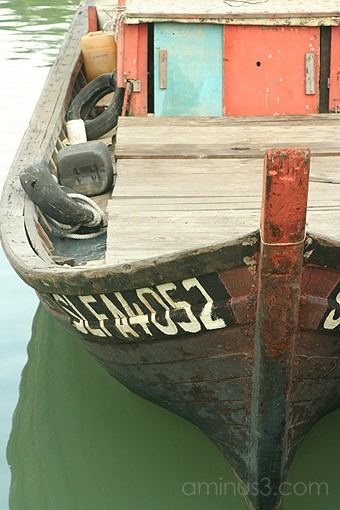 Boat side profile asian