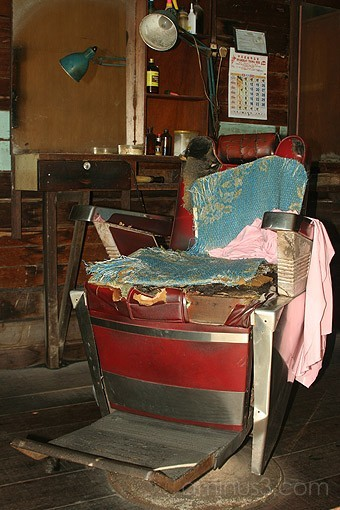 olden days barber chair