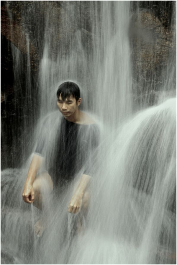 Peace under the waterfall