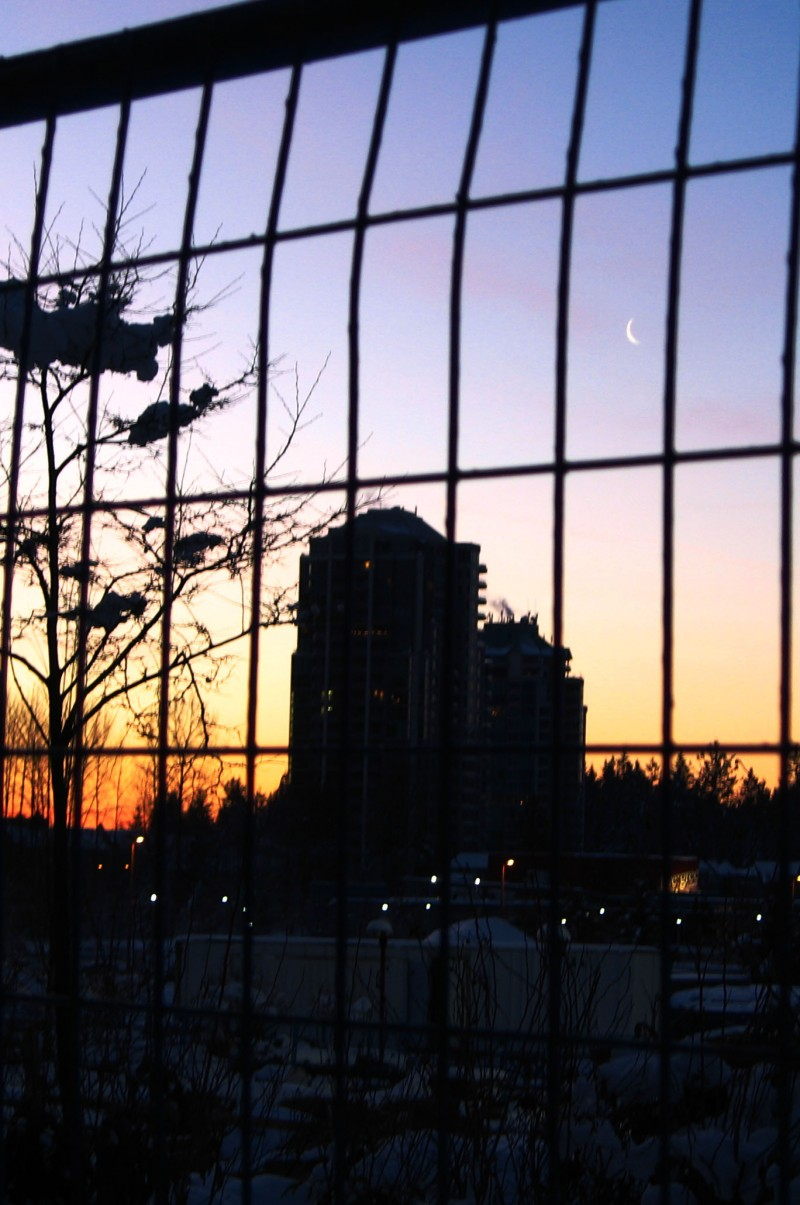 sunrise on the way to school