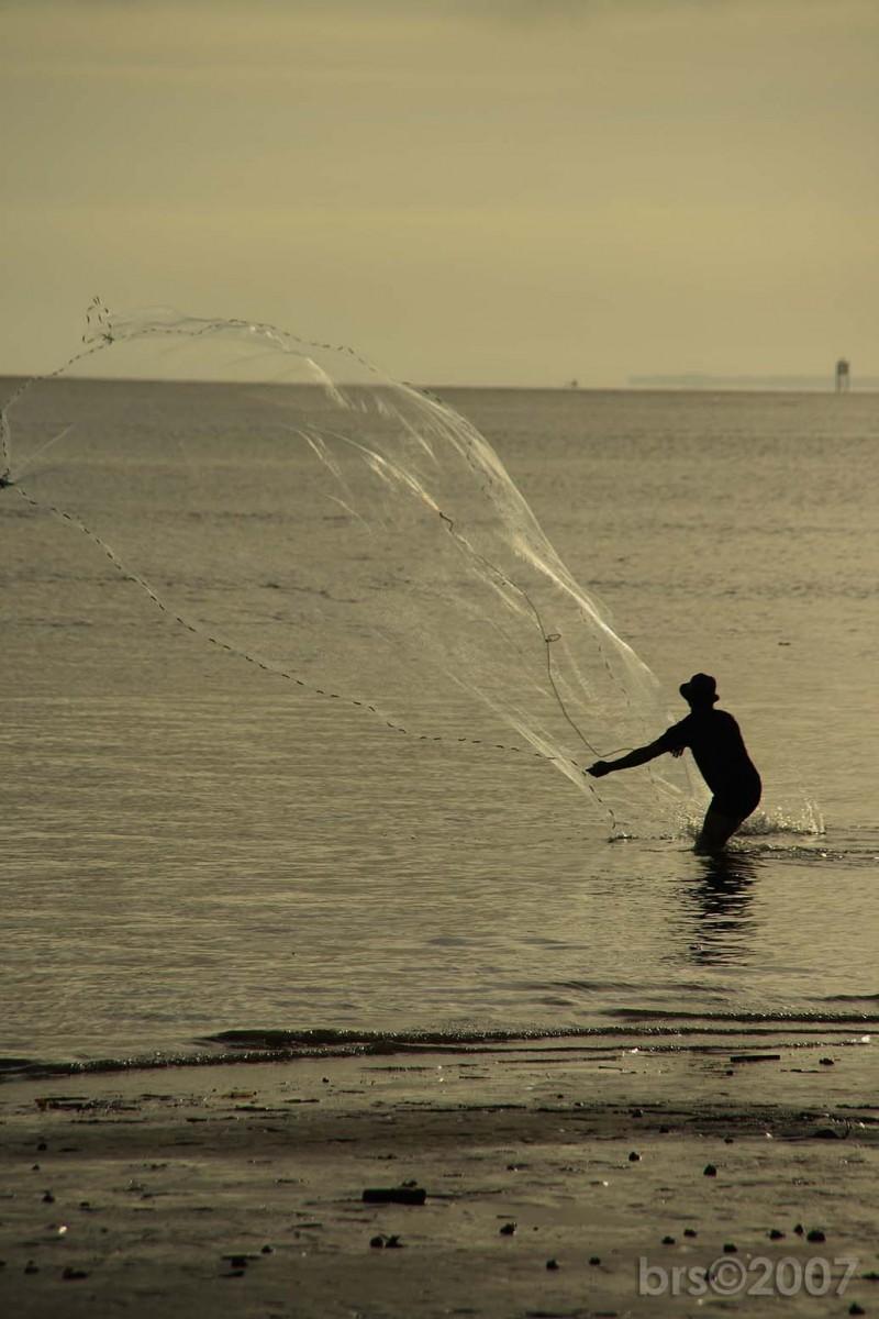 the catch at sunrise...