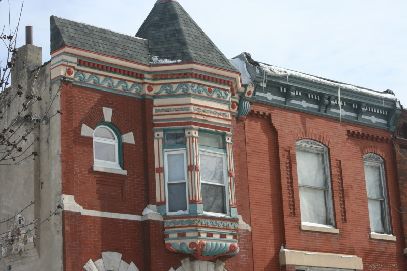 Building detail, Bronzeville neighborhood, Chicago