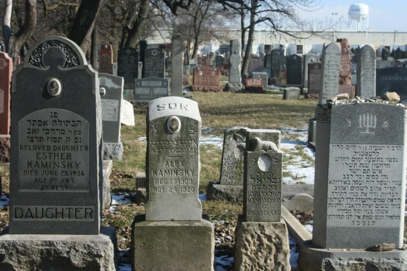 Graves in Waldheim Cemetery