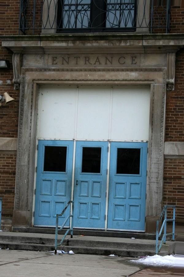 Entrance to public school