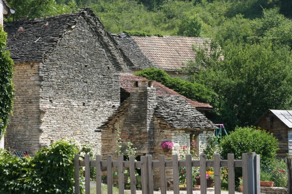 Farm buildings near Beaune, Burgundy, France