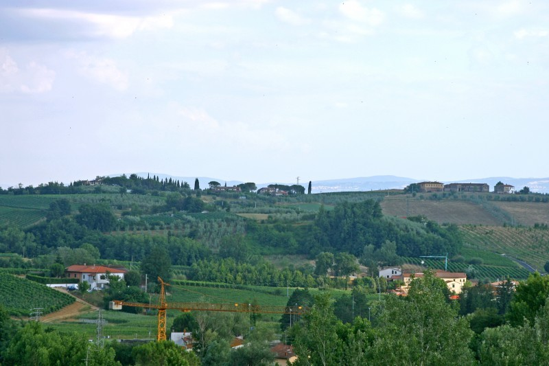 View from Tuscan town of Vinci