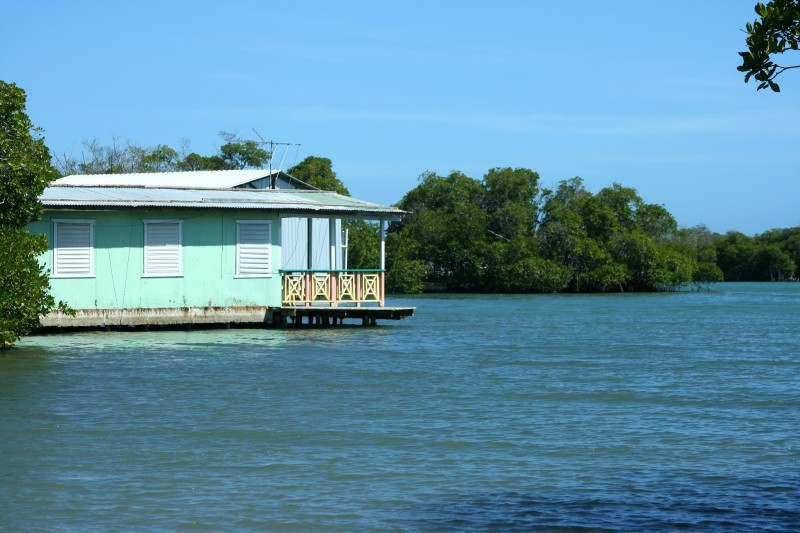 Blue House on Water