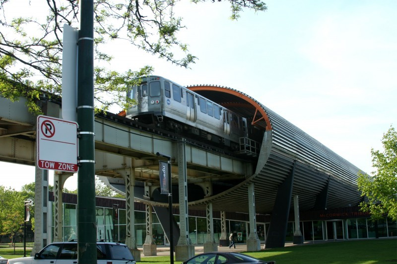 Elevated train stop