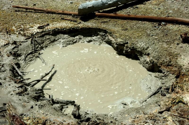 Hot mud pot in Yellowstone