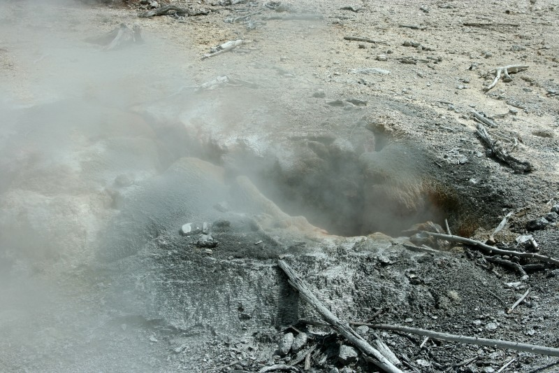 Steam from a vent in Yellowstone